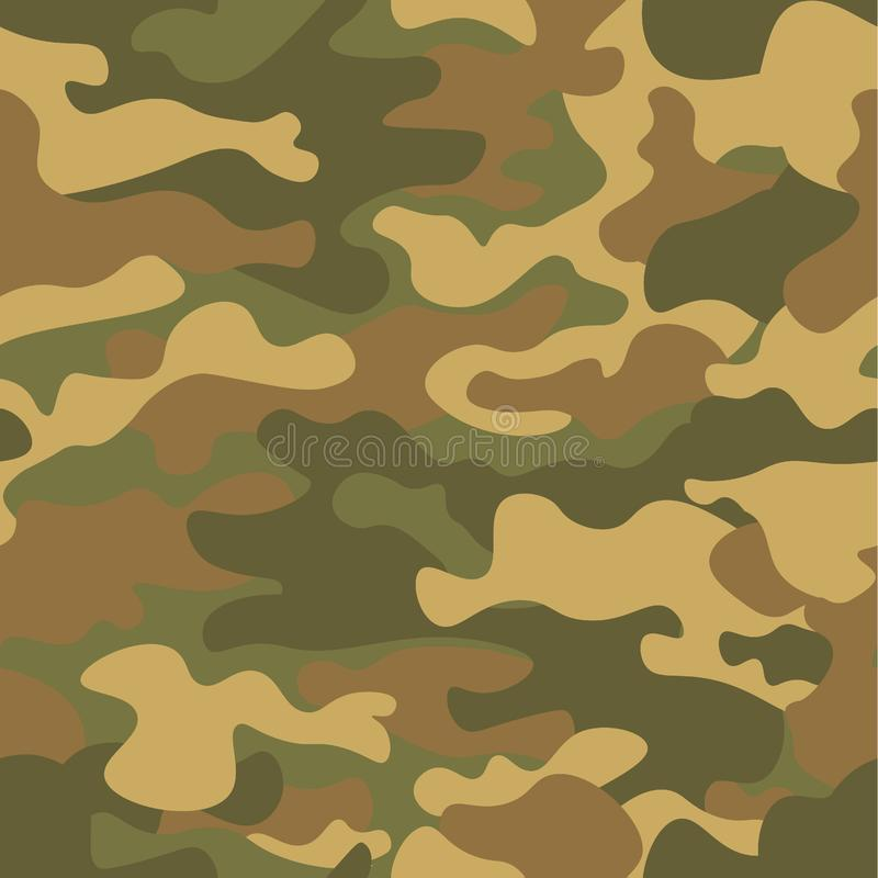 Seamless camouflage pattern. Khaki texture, vector illustration. Camo print background. Abstract military style backdrop vector illustration