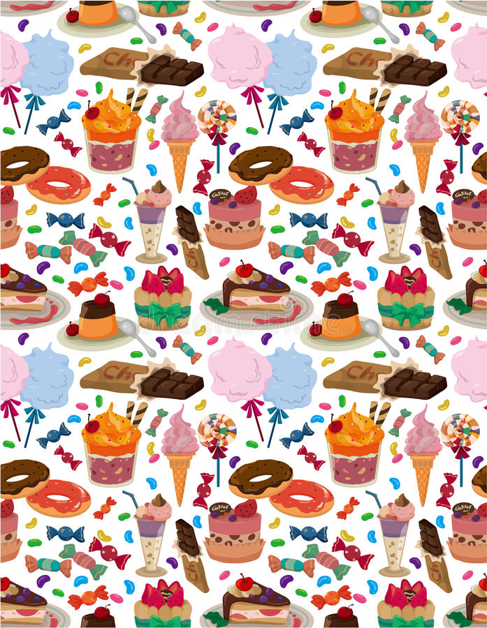 Download Seamless candy pattern stock vector. Image of cartoon - 18279746