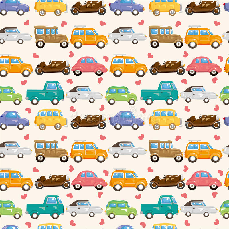 seamless car pattern stock vector illustration of road 19149556