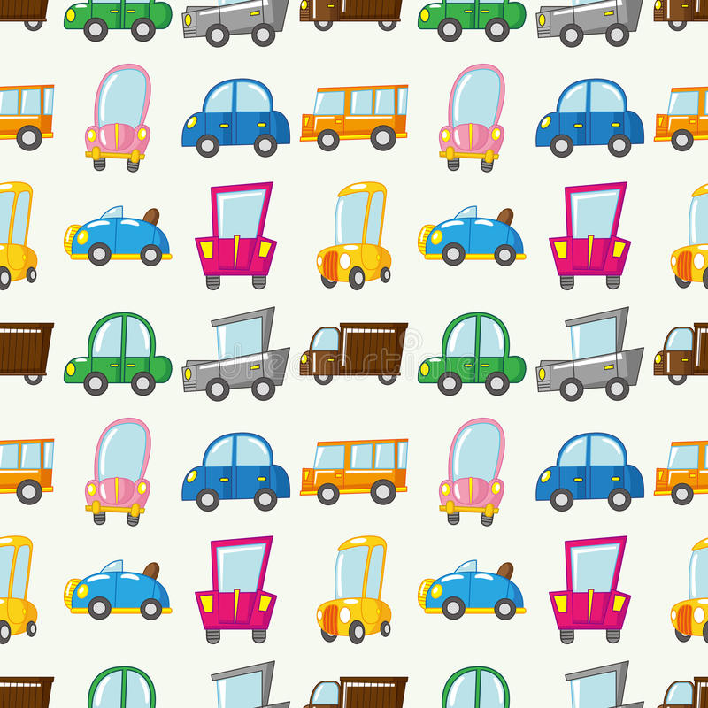 Download Seamless car pattern stock vector. Image of cover, collage - 27858412