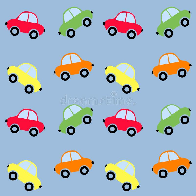 Seamless car pattern royalty free stock photography