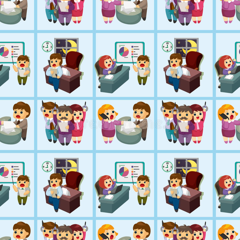 Download Seamless Cartoon Office Worker Pattern Stock Photography - Image: 21309712