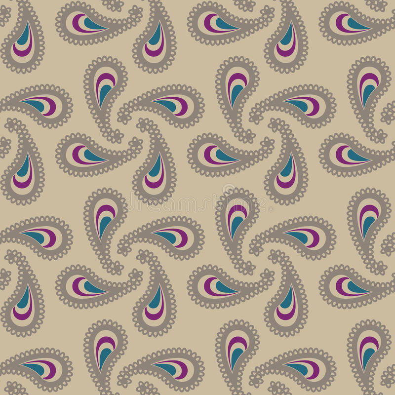 Seamless cashmere pattern. Illustration royalty free illustration