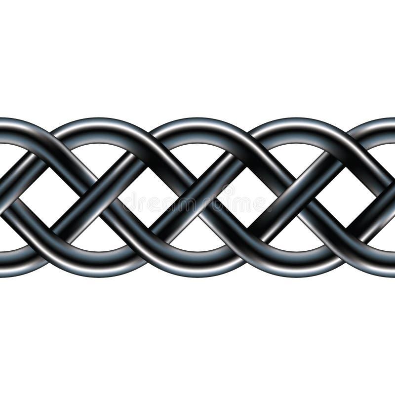 seamless celtic design för kant royaltyfri illustrationer