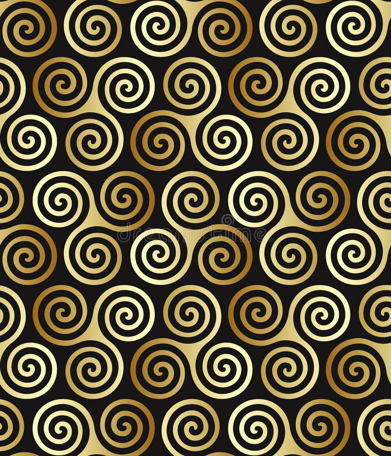 Download Seamless Celtic Spiral Pattern Stock Vector - Image: 5372237