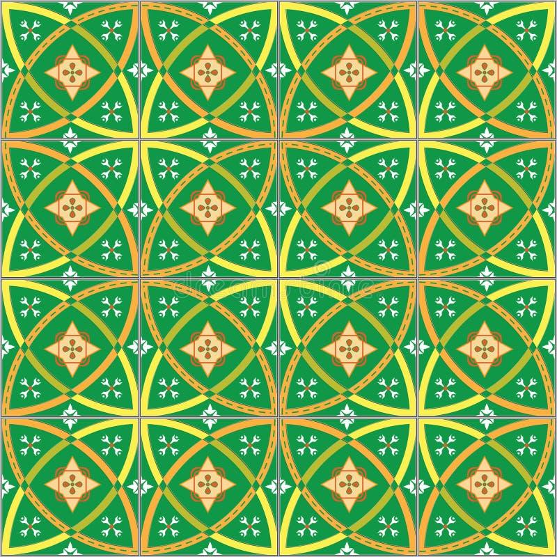 Seamless ceramic tile