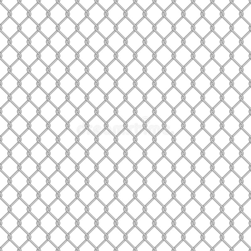 Seamless chain link fence. Chainlink fence pattern. Vector seamless background. Chain link fence structure texture wallpaper stock illustration