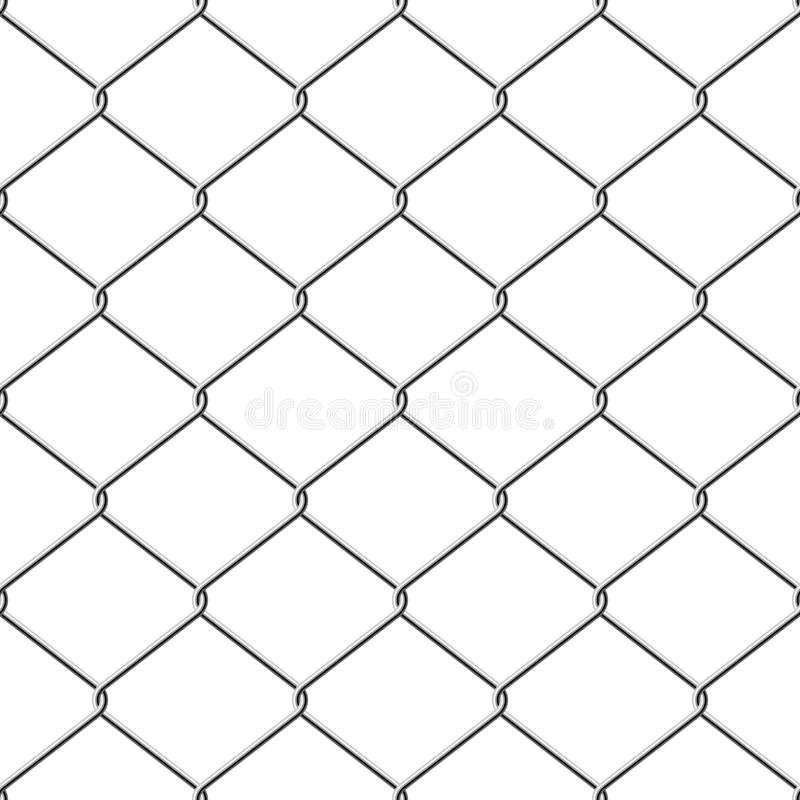 Seamless chainlink fence stock illustration