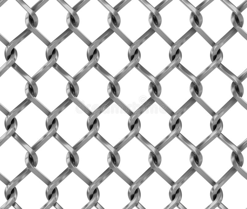 Seamless chainlink fence royalty free illustration