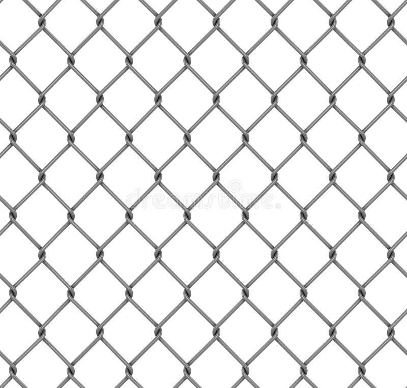 Seamless chainlink fence. 3d illustration stock illustration