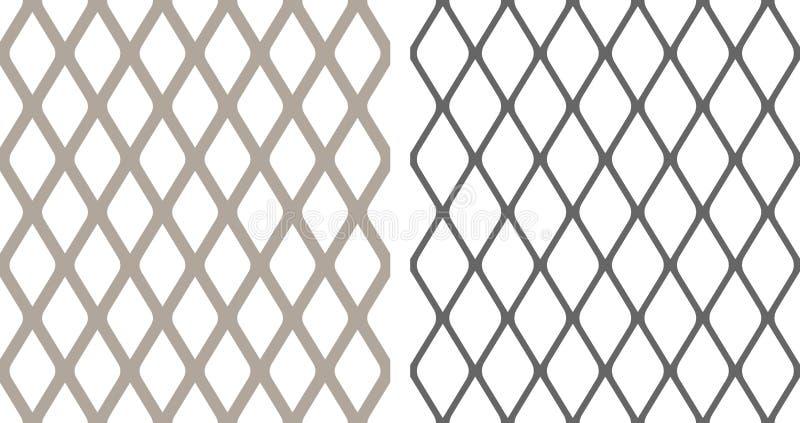 Seamless chainlink fence. Background illustration royalty free illustration