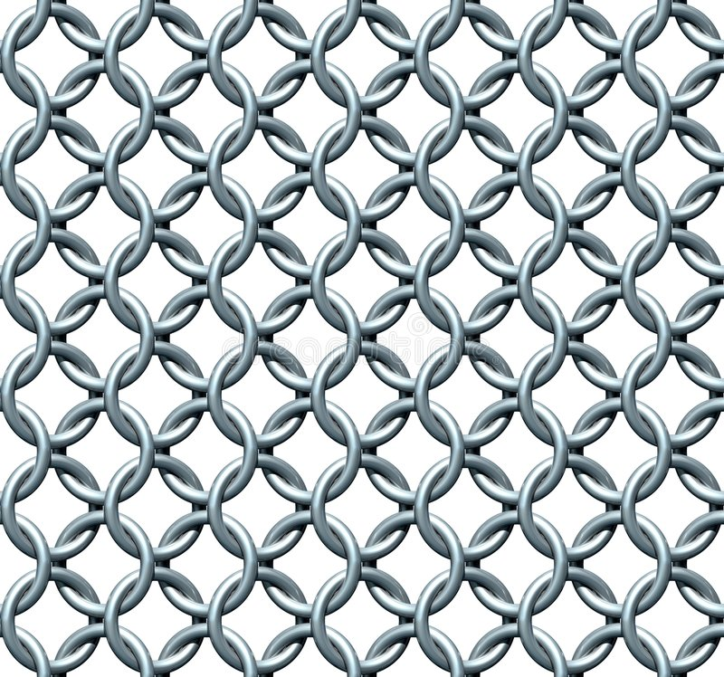 Download Seamless Chainmail Texture stock illustration. Illustration of abstract - 2208884