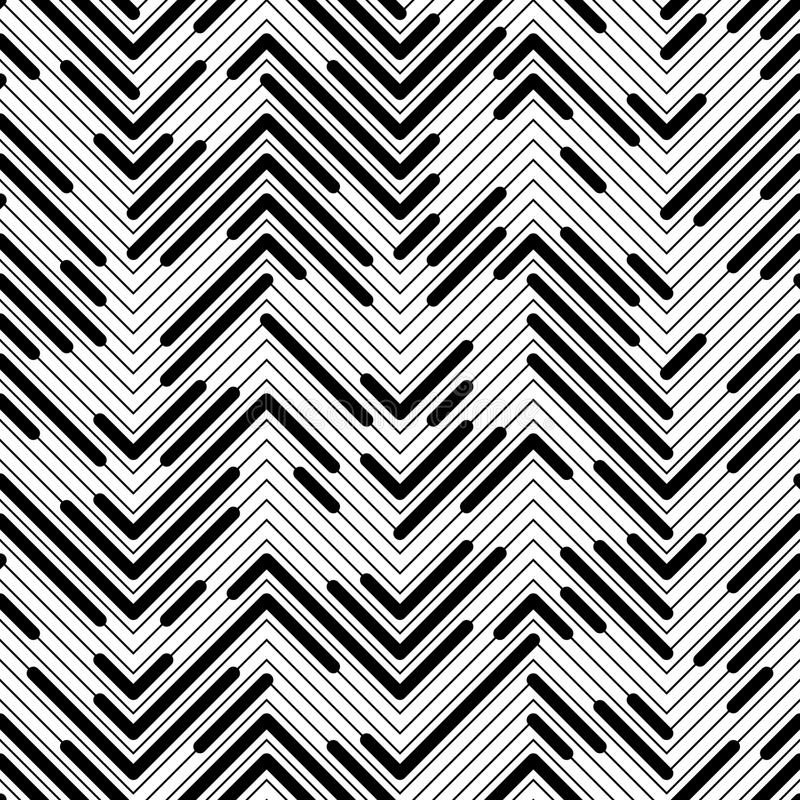 Seamless Chaotic Zig Zag Pattern vector illustration