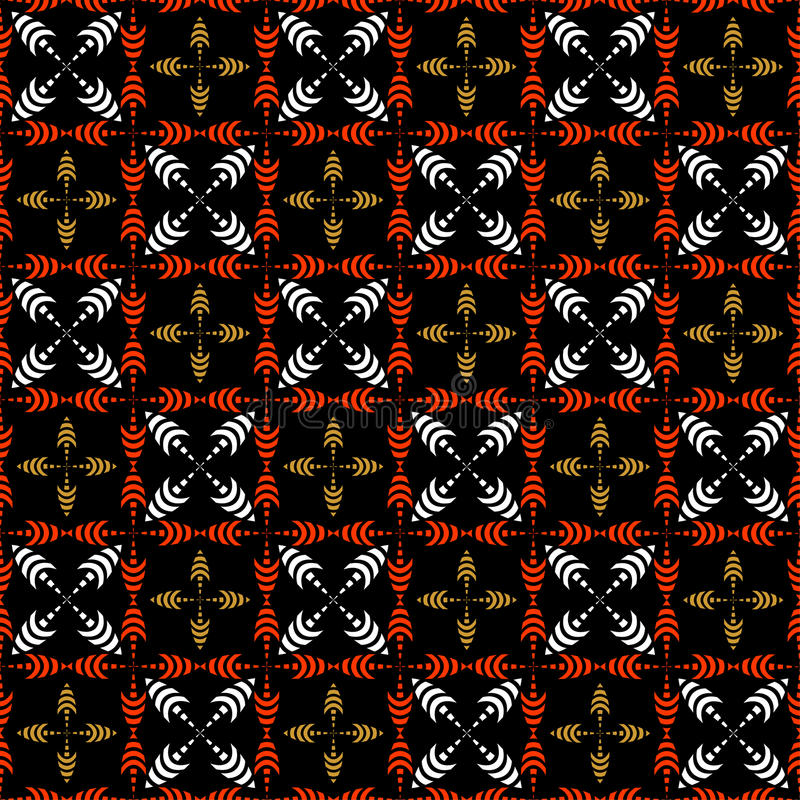 Download Seamless Checked Pattern With Crosses. Stock Vector - Image: 10985538