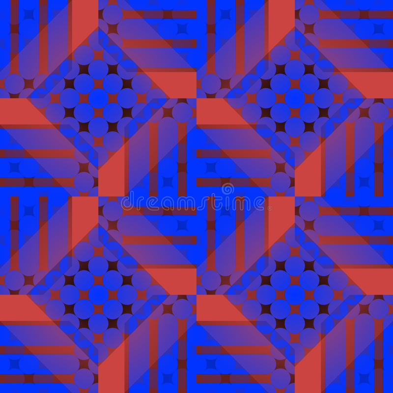 Seamless checked pattern dark blue red purple brown vector illustration