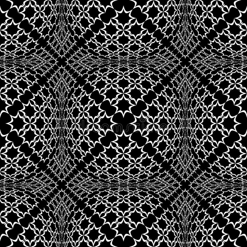 Seamless checked pattern with optical 3D effect. royalty free illustration