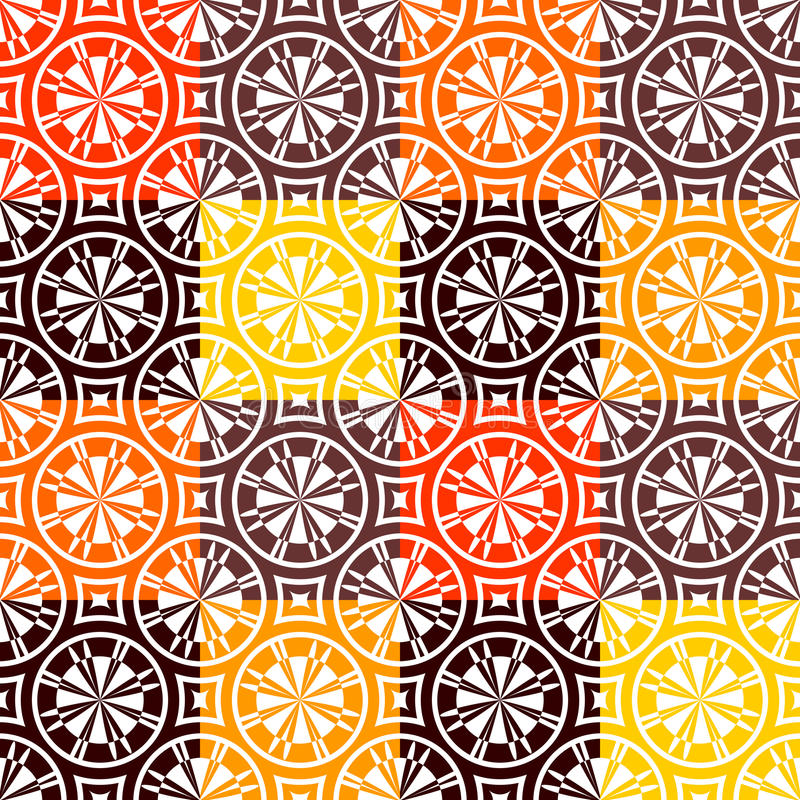 Seamless Checked Pattern In Warm Colors. Stock Photo
