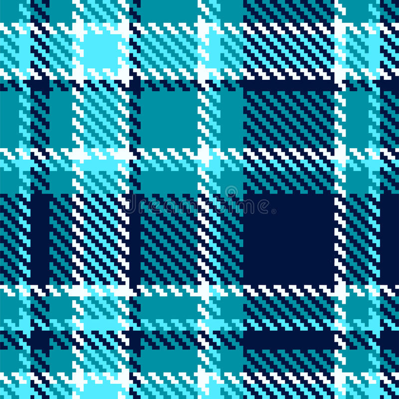 Seamless checkered blue vector pattern