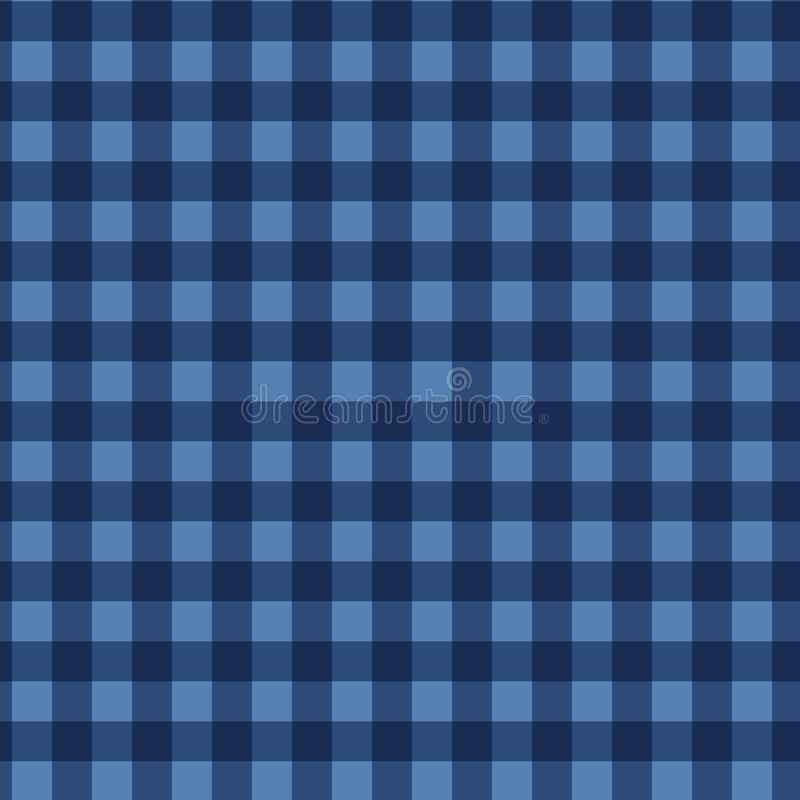 Seamless checkered pattern. Vintage blue plaid fabric texture. Abstract geometric background. royalty free illustration