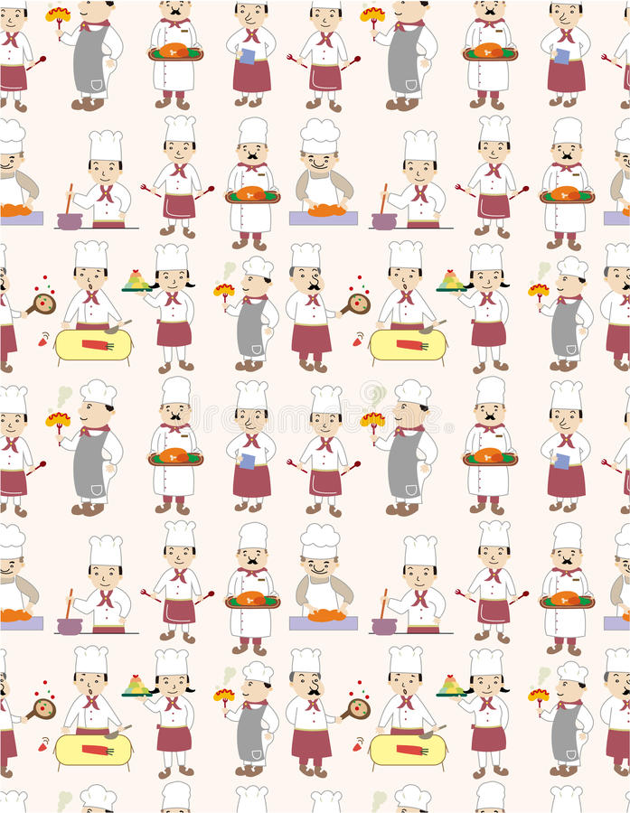Download Seamless chef pattern stock vector. Image of chef, lunch - 19027998