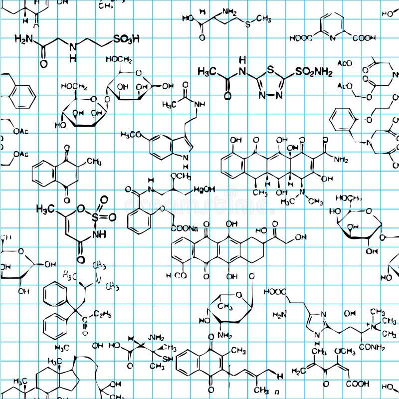 seamless chemical modell vektor illustrationer