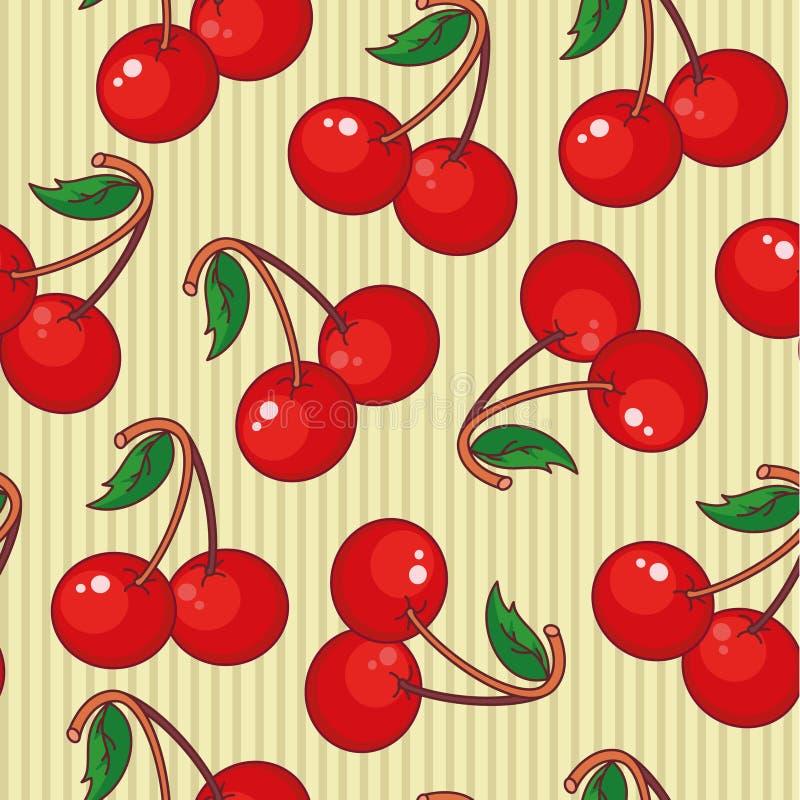 seamless Cherry royaltyfri illustrationer