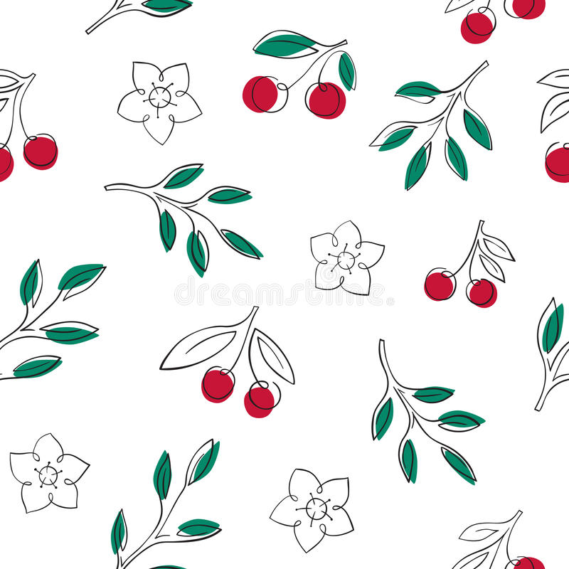 seamless Cherry royaltyfri foto