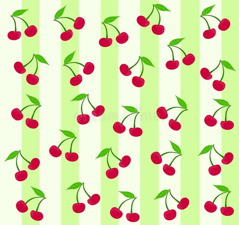 Seamless cherry background stock illustration