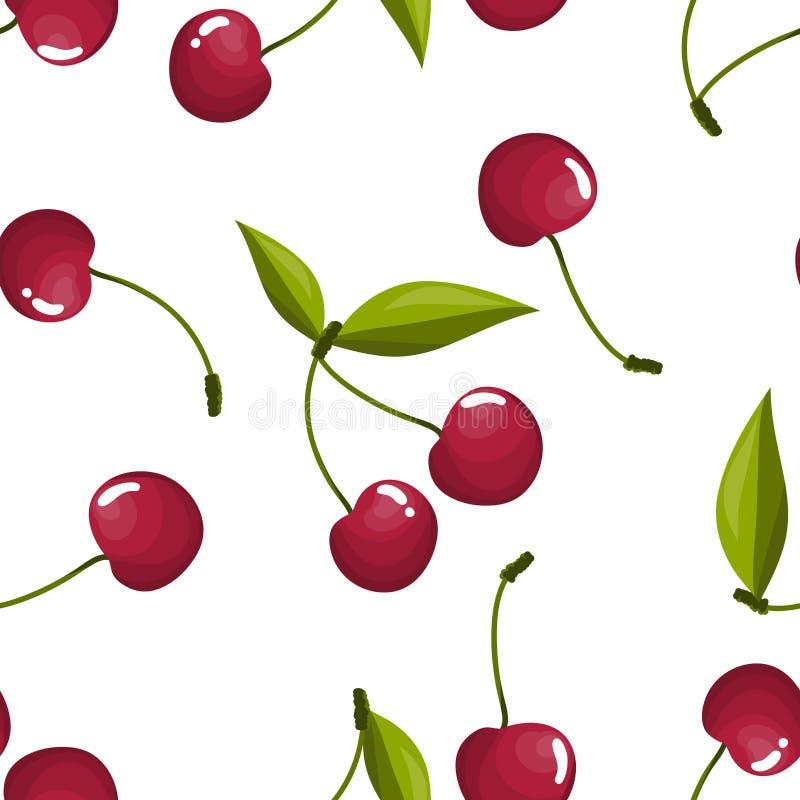 seamless Cherrymodell vektor illustrationer