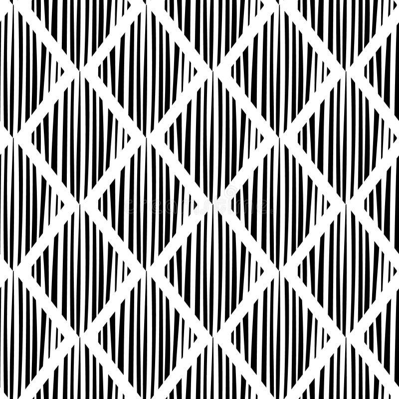 Seamless chess rhombus pattern. Vector art. royalty free illustration