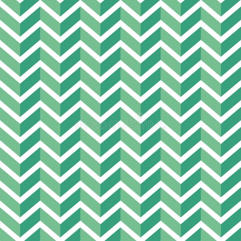 Seamless chevron pattern. Colorful light and dark green zig zag on white background. royalty free illustration