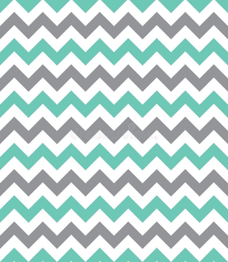 Seamless chevron pattern. Mint green and grey seamless chevron pattern