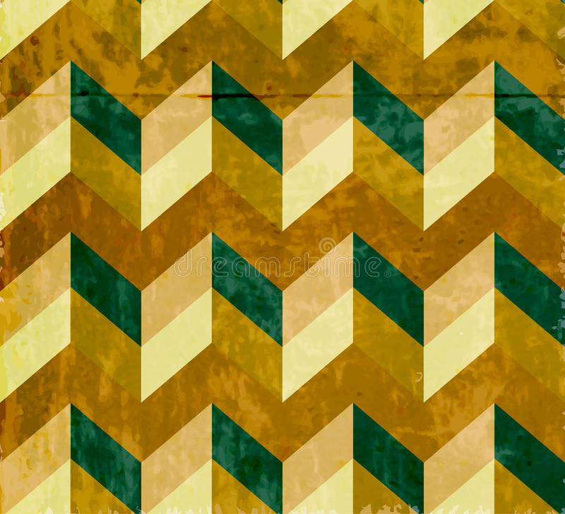 Seamless chevron pattern with old paper texture stock illustration