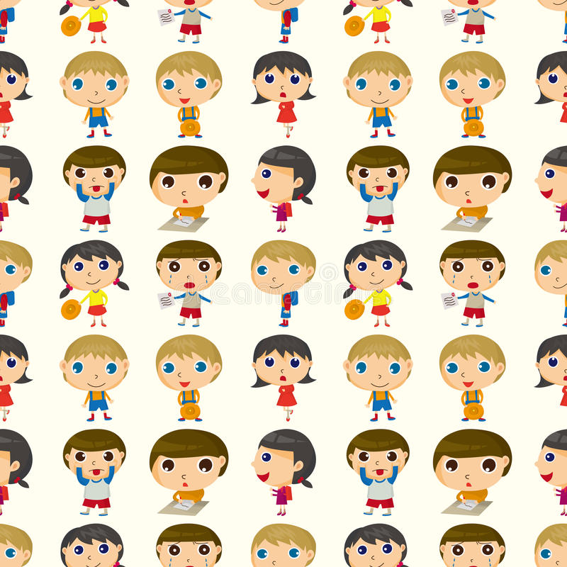 Download Seamless child pattern stock vector. Image of baby, background - 27919194