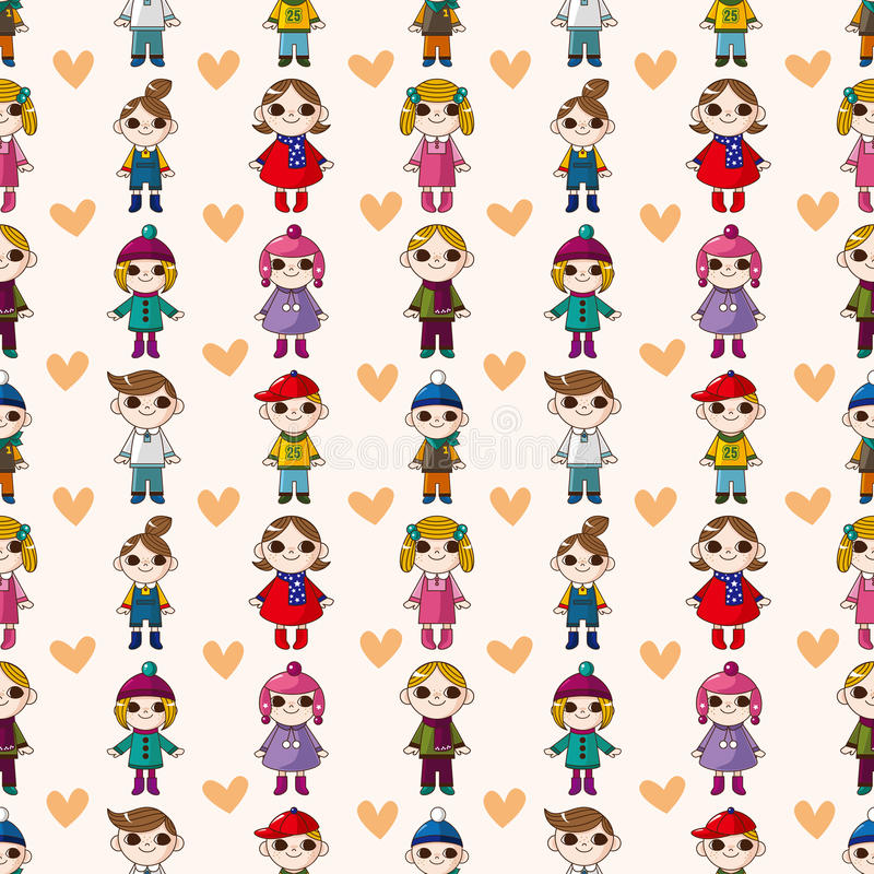 Download Seamless child pattern stock vector. Illustration of girl - 28150708