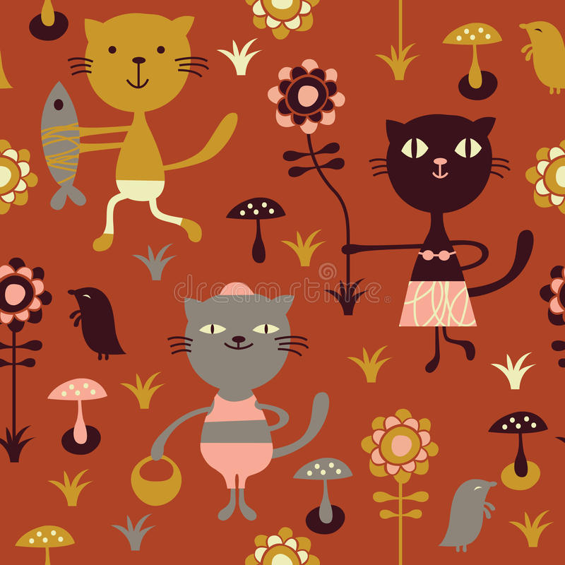Download Seamless childlike pattern stock vector. Illustration of funny - 10092407