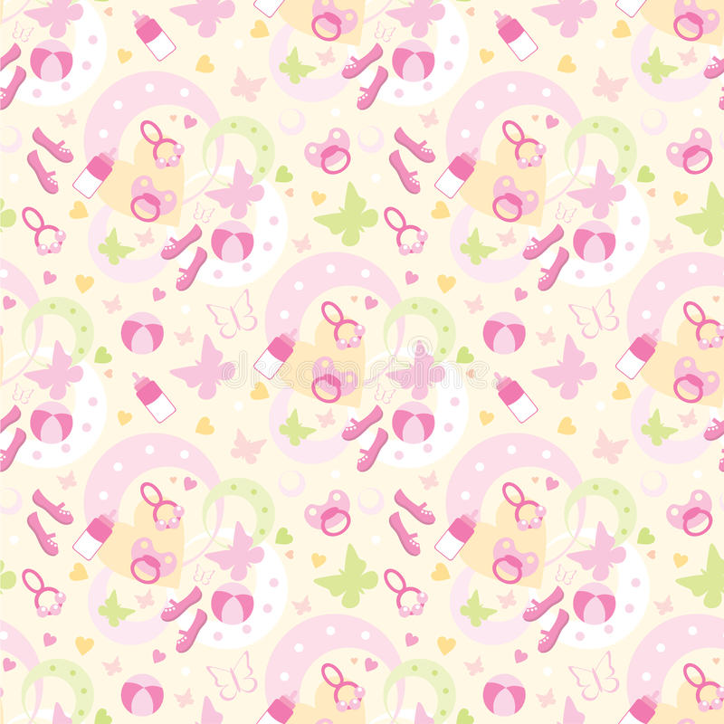 Download Seamless Children's Things Pattern Stock Vector - Illustration of butterfly, happiness: 22608661