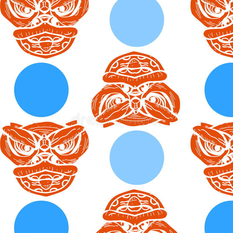 Download Seamless China Pattern With Blue Circle Stock Vector - Image: 83709321