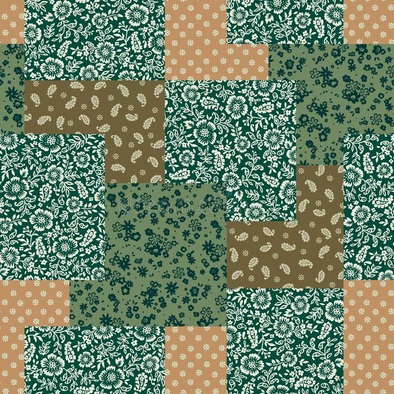 The seamless chintz design that is beautiful at irregulari. I drew a printed cotton pattern vector illustration