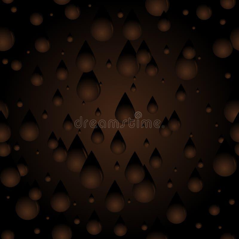 Seamless Chocolate drips stock illustration