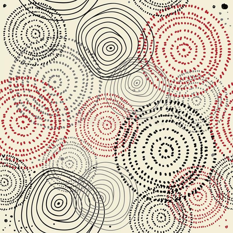 Vector seamless a pattern of circular ornaments. vector illustration