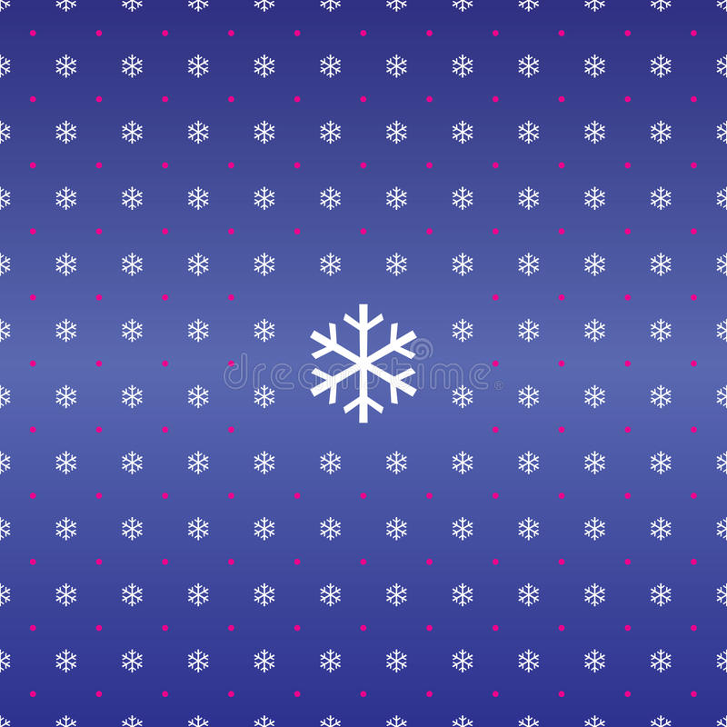 Seamless Christmas background of snowflakes stock illustration