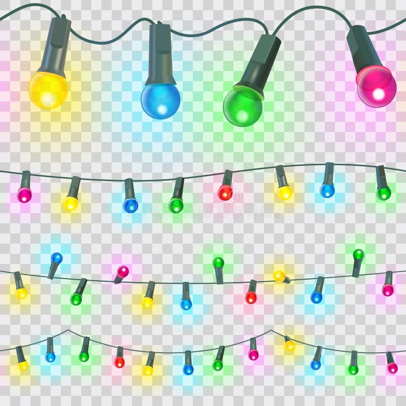 Seamless christmas light. Vector illustration vector illustration