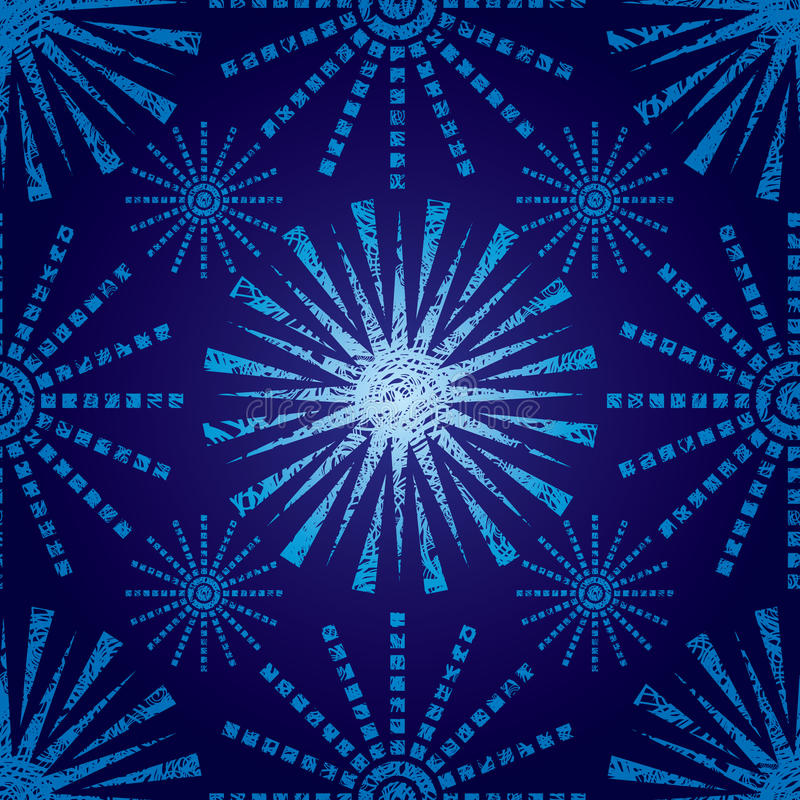 Download Seamless Christmas Pattern With Grunge Snowflakes Stock Vector - Image: 15942358