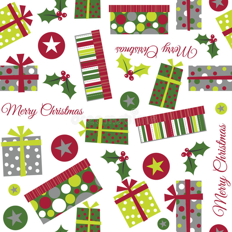 Seamless Christmas Present Illustration royalty free illustration