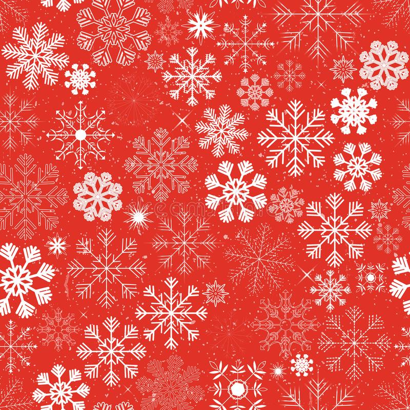 Seamless Christmas Snowflakes Background stock illustration