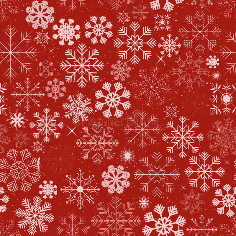 Seamless Christmas Snowflakes Background royalty free illustration