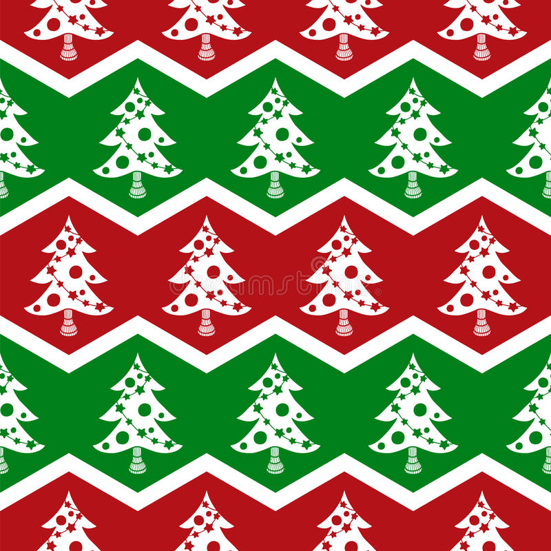 Free Seamless Christmas Tree Pattern Stock Image - 33597421