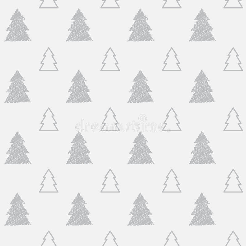 Free Seamless Christmas Tree Pattern Royalty Free Stock Photo - 35275465