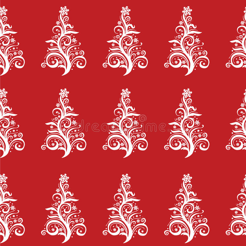 Seamless Christmas Tree pattern! Vector eps10 royalty free stock photos